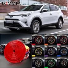 цена на 8M Car Wheel Hub Rim Edge Protector Ring Tire Strip Guard Rubber Decals For Toyota RAV4