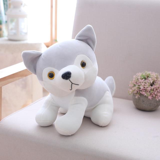 Cute Cartoon Plush Huskey Dog Stuffed Animals Sitting Plush Huskey Dog Doll for Chrildren