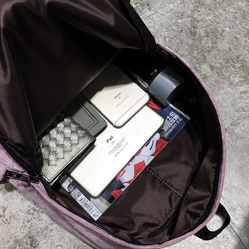 estudante mochila mulheres mochila Material Principal : Veludo
