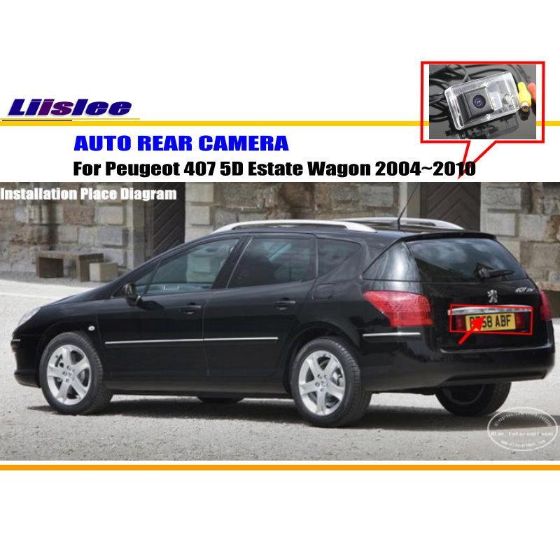 Liislee Voiture Caméra Arrière/Caméra de Recul Pour Peugeot 407 5D immobilier Wagon 2004 ~ 2010/Plaque D'immatriculation OEM/HD Nuit Vision