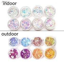 UV Renk Değişimi Mika Tozu Güneş Işığı Reaktif Sequain Glitter Reçine Takı DIY Aksesuarları