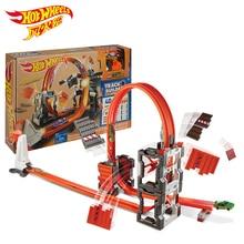 Hotwheels Carros Track Modelet Makina Trainojnë Fëmijët Plastikë Metal Lodra-vetura-rrota të nxehta Lodra të nxehta për fëmijë Juguetes DWW96