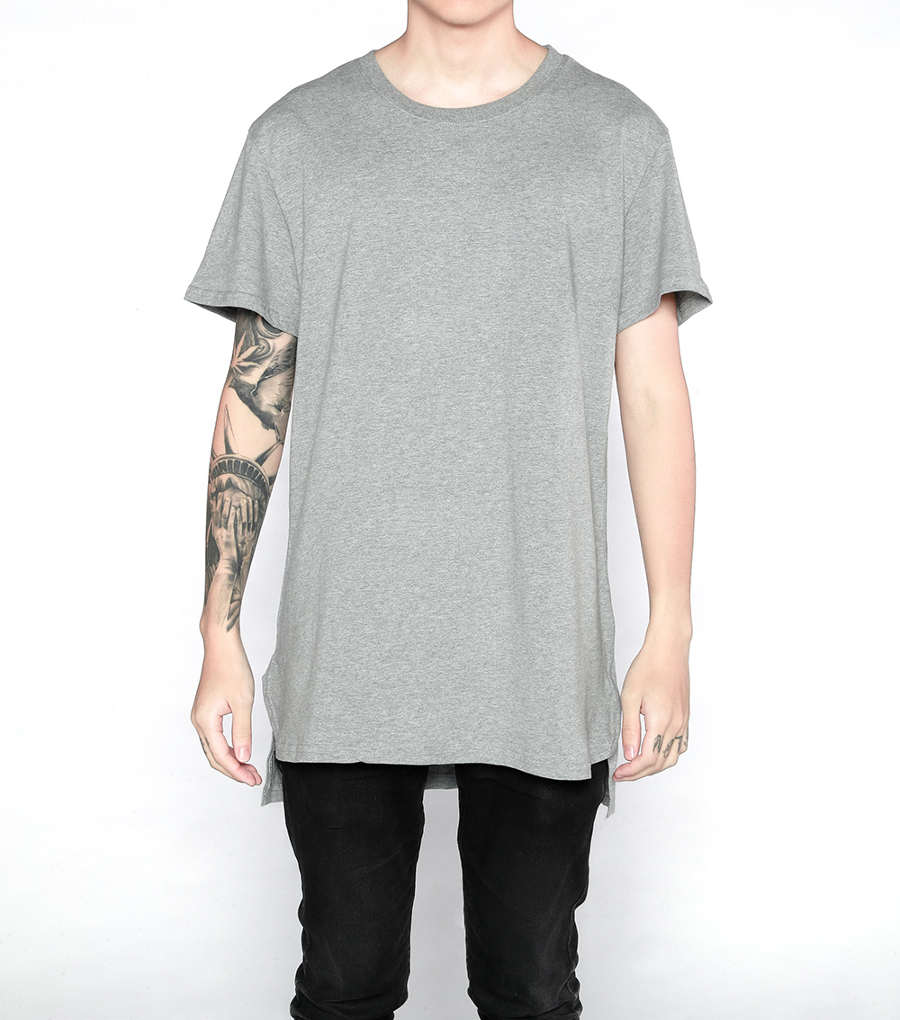T shirt plain white back - 2017 Fashion Classic Plain Front Short Back Long Solid Plus Long Short Sleeve Tee Shirt Longline T Shirts Grey White Extended