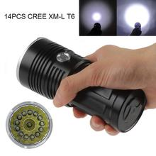 LED Waterproof Flashlight 14x XML-T6 LED Super Bright Backpacking Hunting Fishing Torch Flash Lamp,Aluminum Alloy led flashligh 12x xml t6 led waterproof 4 mode 18650 battery super bright backpacking hunting fishing rope torch flash lamp