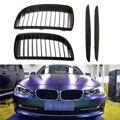 Новинка  1 комплект  автомобильный тупой черный Передний гриль для почек  решетки для BMW E90 E91  салун 2005-2008 4D  автомобильные аксессуары