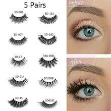d6513d9a17f 5 Pairs Cheap False Eyelashes Wholesale Natural Thick Eyelashes Extension  Makeup Fake Eye Lashes Long Beauty
