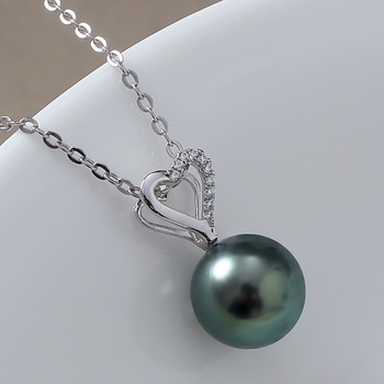 14K Gold Pendant with Saltwater Pearl 2