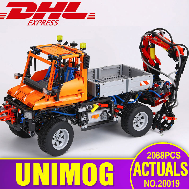 New Lepin 20019 Technic Ultimate Series The Mechanical Truck Unimogu Set Educational Building Blocks Bricks Toys legoing 8110 new lp2k series contactor lp2k06015 lp2k06015md lp2 k06015md 220v dc