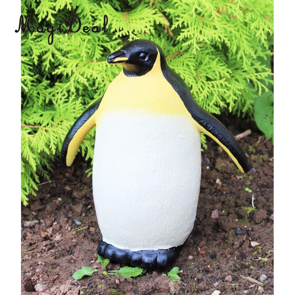 Plastic Penguin Lawn Figurine Simulation Garden Ornaments