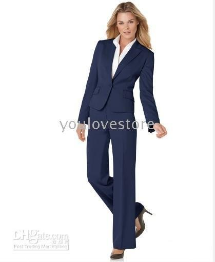 New Arrival Navy Women Business Suit Brand Custom Made Suits