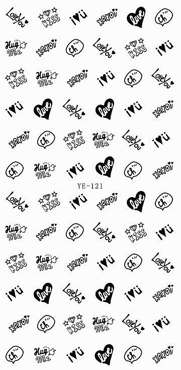 3 PACK/ LOT WATER TRANSFER DECAL NAIL STICKER GREY BLACK PINK SWEET HEART LOVE VALENTINE DAY YE121-123 8x10ft valentine s day photography pink love heart shape adult portrait backdrop d 7324
