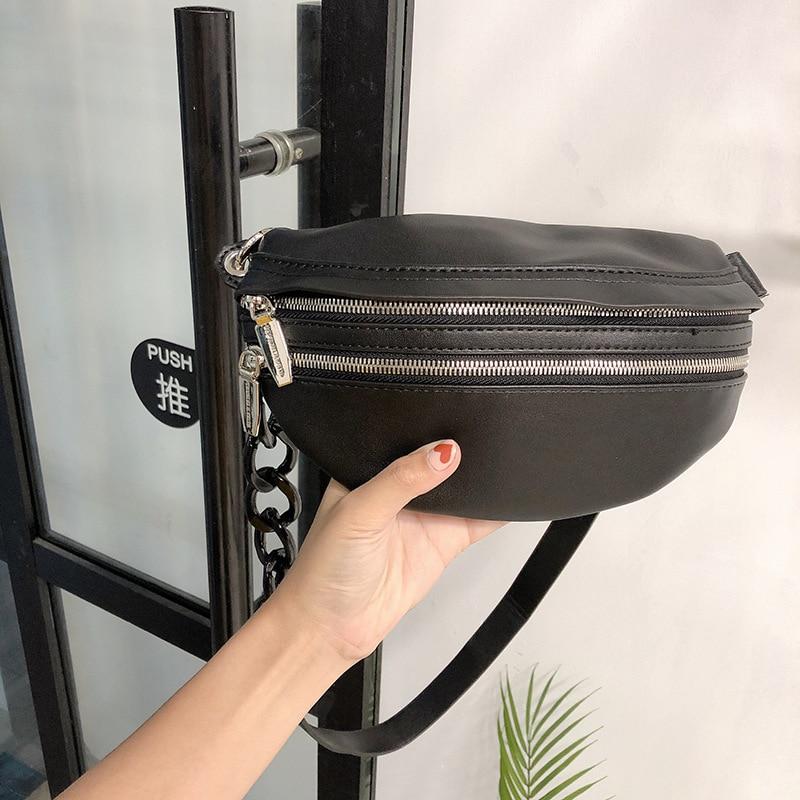 Fashion Women Weaving Belt Leather Chest Bags Messenger Bag Casual Zipper Phone Fanny Pack Wallet Waist Packs Belt Pouch