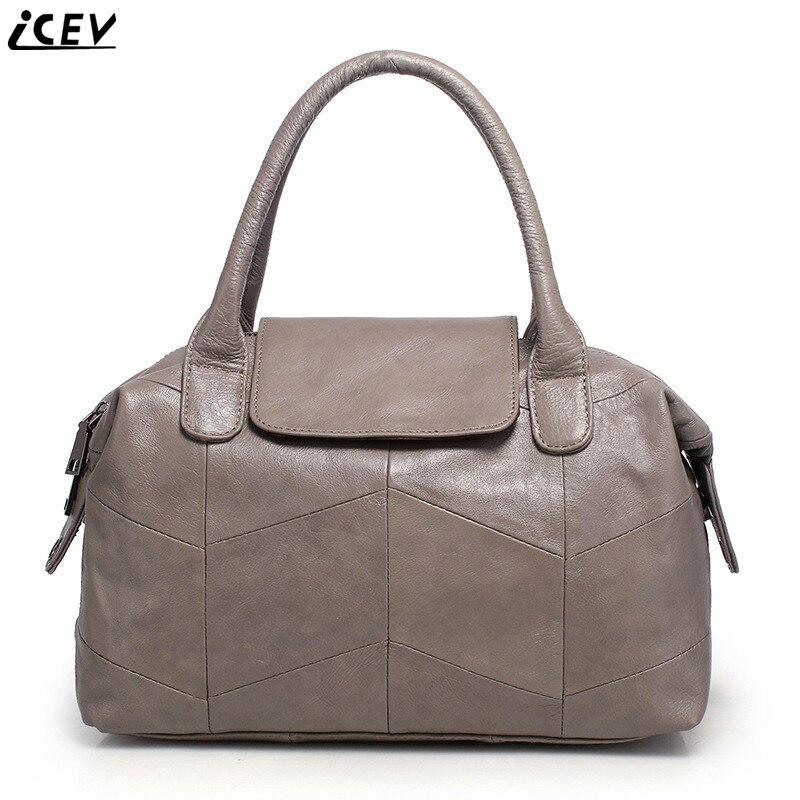 0124bb38cd27 Организатор модные классические женские Натуральная кожа сумки большой  емкости сумка высокого качества Бостон сумки офисные