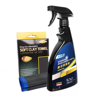 Fine Grade Microfiber Clay Bar Towel Grinding Mud Lubricants Lubricants 500ML Clay Towel Car Cleaning Set