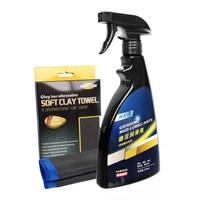 Fine Grade Microfiber Clay Bar Towel Grinding Mud Lubricants Lubricants 500ML Clay Towel Car Cleaning Set