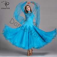 2018 women modern dance costume dress one piece dresses waltz high quality