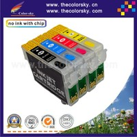 (RCE1331) refillable refill ink cartridge for Epson T1331 - T1334 T133 T 133 Stylus N11 NX420 T12 (with ARC chip) BKCMY