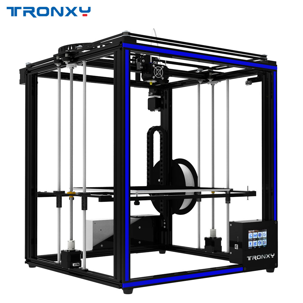 US $394 5 25% OFF|Cyclops Tronxy X5ST 500 2E 3D Printer 2 In 1 Out Double  Extruder Motor DIY Kits Larger Heat bed-in 3D Printers from Computer &