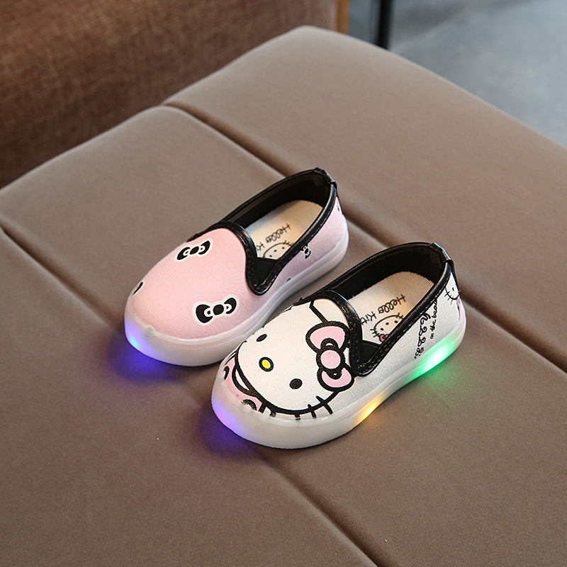 2017 Fashion LED Lighted kids shoes new brand cartoon high quality baby sneakers hot sales boys girls children shoes