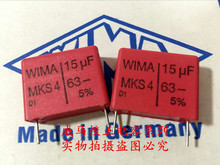 2019 hot sale 4pcs/10pcs German capacitor WIMA MKS4 63V 15UF 63V 156 P: 22.5mm audio capacitor Audio capacitor free shipping 2000v 15uf uv capacitor
