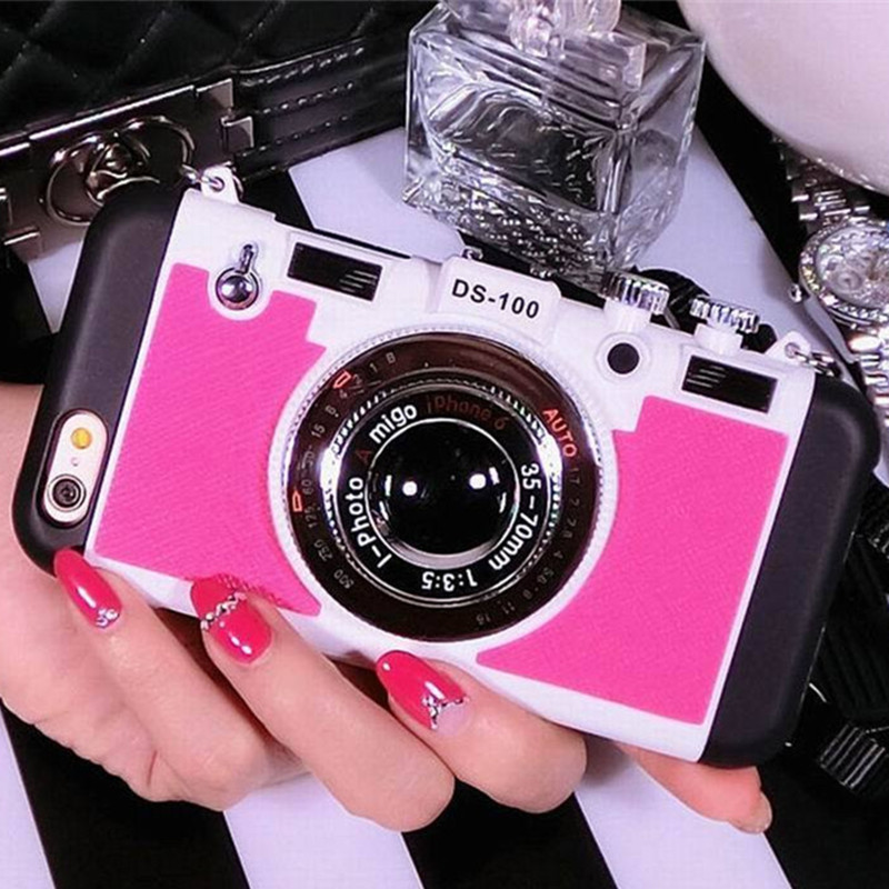Luxury Retro 3D Camera Style Protective Phone Back Case Cover 5