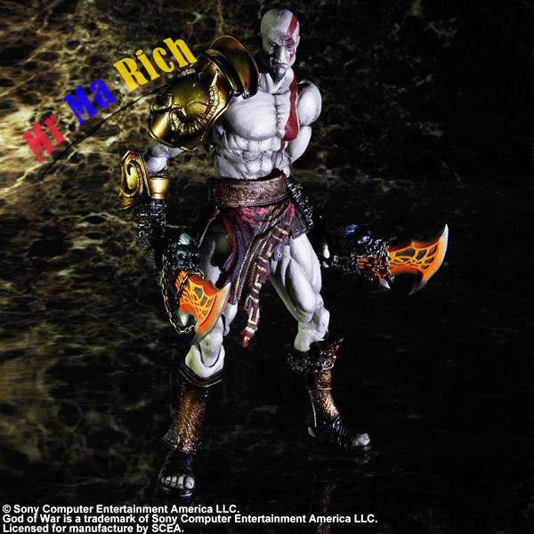 Play Arts Kai God of War <font><b>Kratos</b></font> Ghost of Sparta <font><b>PVC</b></font> <font><b>Action</b></font> <font><b>Figure</b></font> <font><b>Statue</b></font> Model