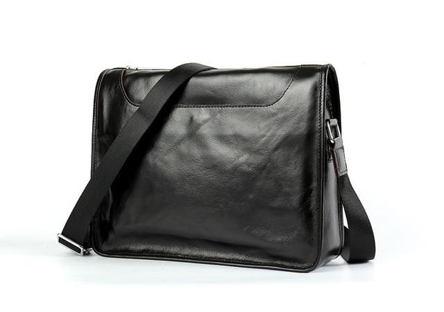 27042ec43a Genuine Leather Men Business Briefcase Laptop bag Casual Messenger Travel Bags  Handbags Shoulder Crossbody Bag Male