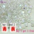 Comprar 1 y 1 total de 200 piezas de 4mm cristal Bicone vidrio suelta perlas espaciador cuentas pulsera de la joyería DIY