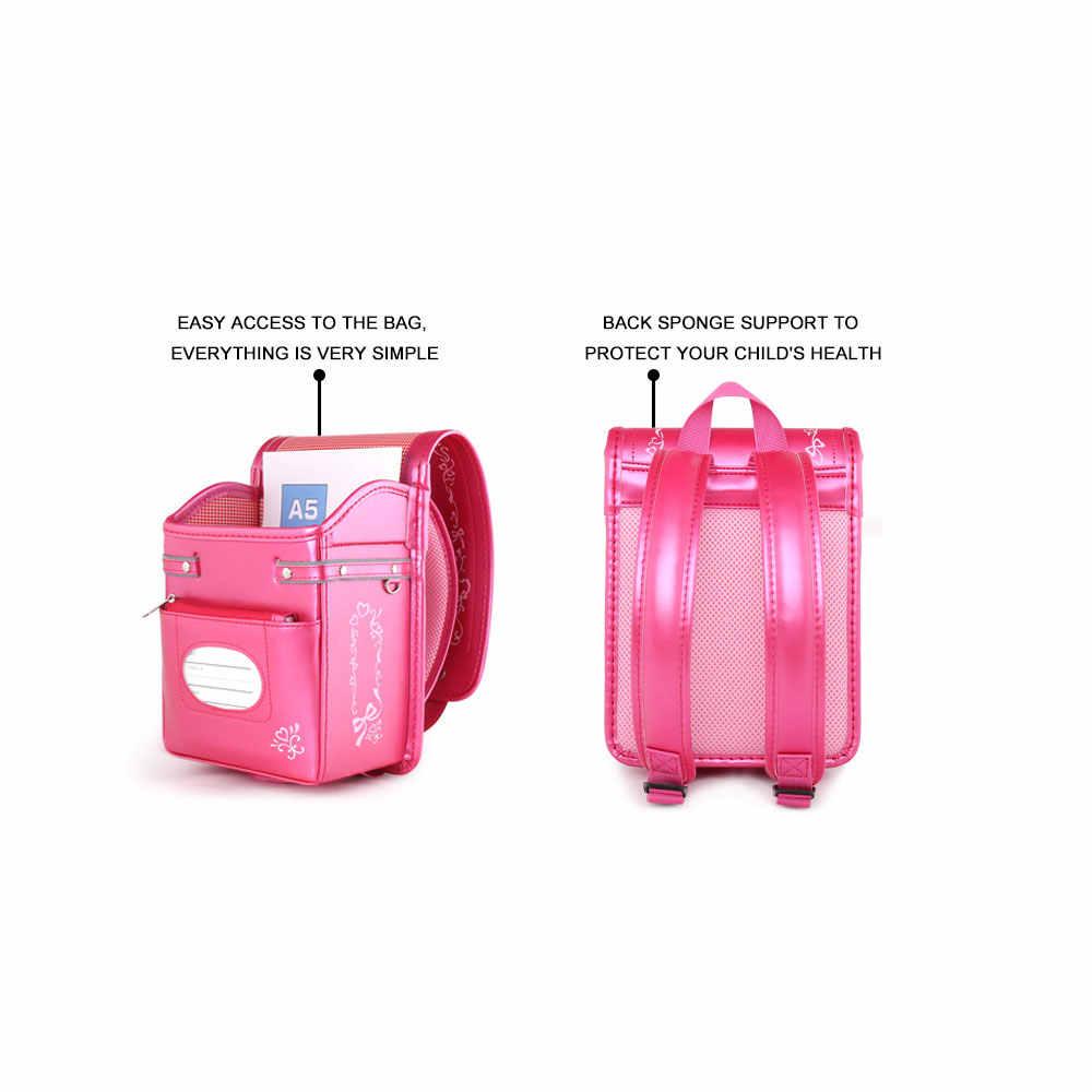 Coulomb малыш ортопедический рюкзак для маленьких девочек школьные ранцы Японии PU Randoseru портфель обувь Kinderrucksack