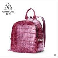 Гете 2019 импортируется из крокодиловой кожи рюкзак для женщин bay крокодила живот рюкзак с аппликацией сумка из крокодильей кожи для леди
