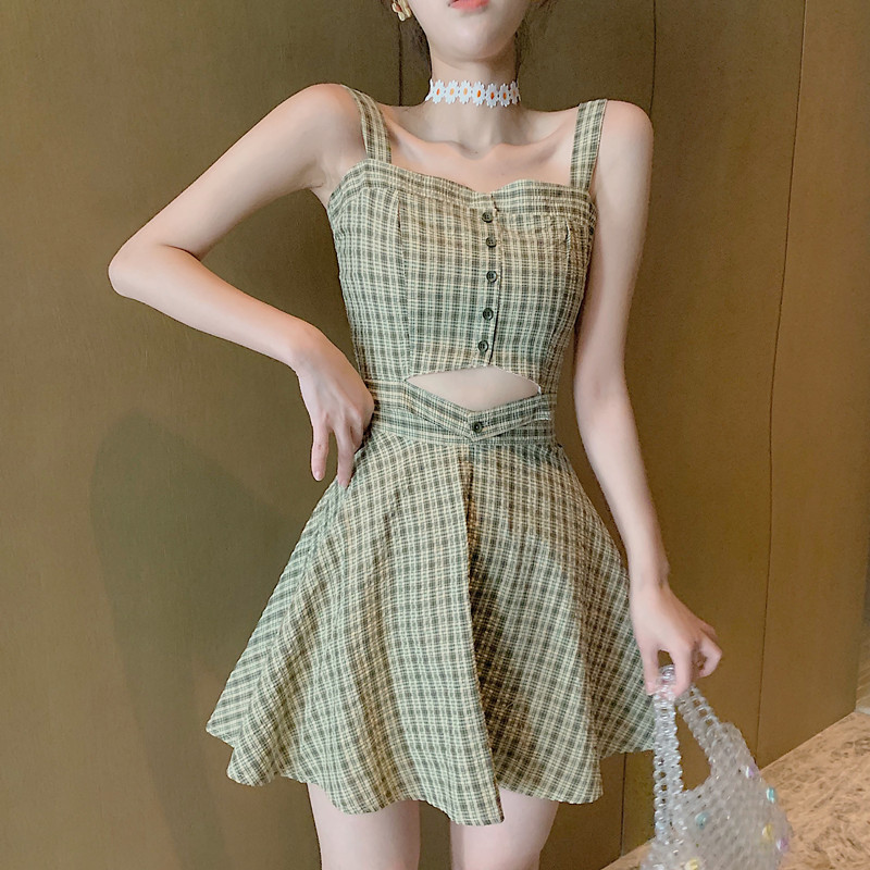2 Piece Set Crop Tops And Skirt 2019 Summer AA Style Korean Fashion Lady Plaid Crop Top And Skirt 2 Piece Set Women Clothing