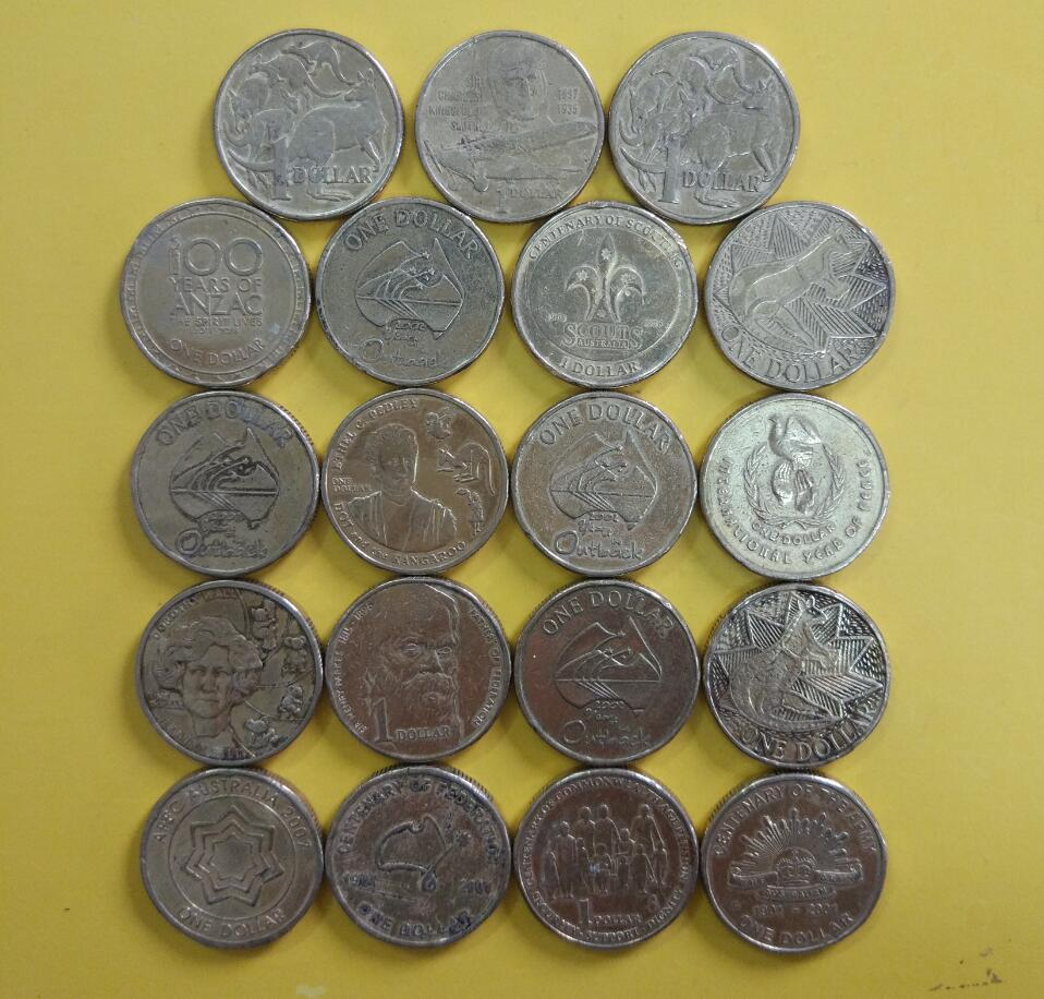 Australia 1 Dollar Coin Commonwealth Country Coins Collection World 100 Real And Original Used