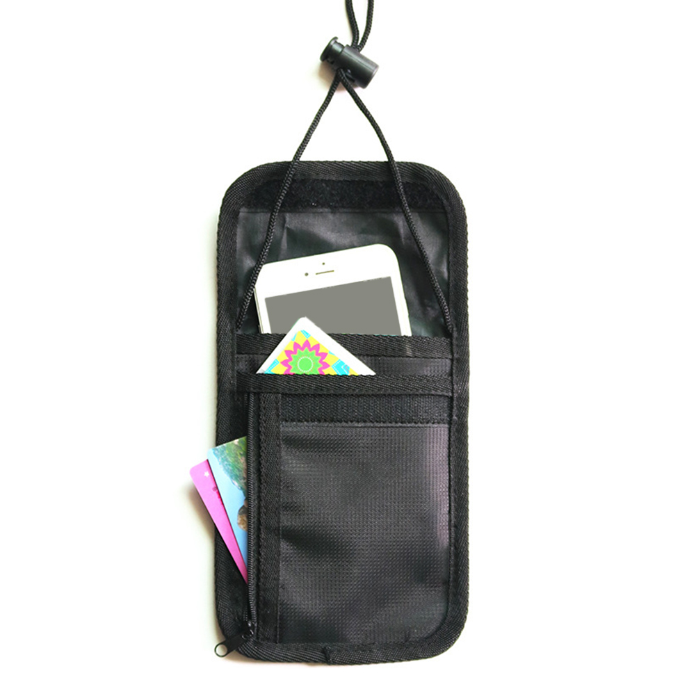 Oxford Fabric Travel Passport Holder Solid Color Ticket Storage Bag Neck Pouch Unisex  Anti-theft Wallet Portable Hanging
