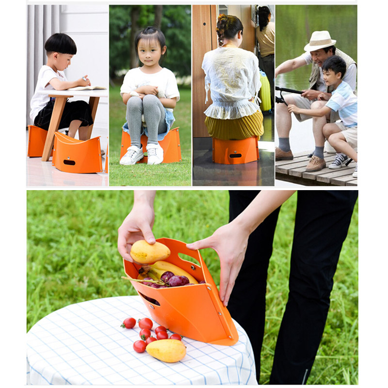Folding Kids Stool Chair Seat Ultralight Fishing Camping Portable Hiking Stool