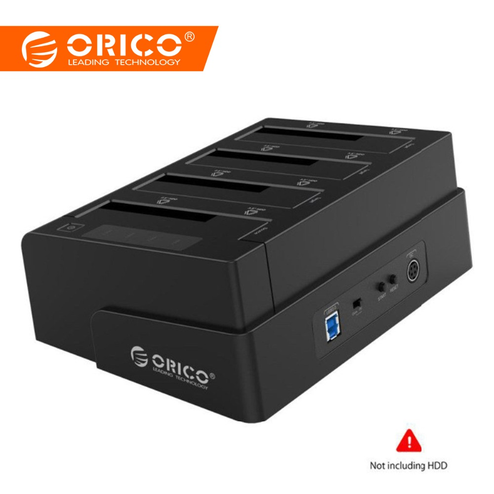 ORICO USB 3.0 til SATA 4 Bay Ekstern HDD Docking Station For 2.5 3,5 tommer HDD SSD 4 bay Harddisk Case Cloner Funktion