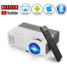 CAIWEI Portable Android WiFi LCD Projector Home Theater Beamer HD Video Movie Game Wireless Sync Connect Bluetooth Devices