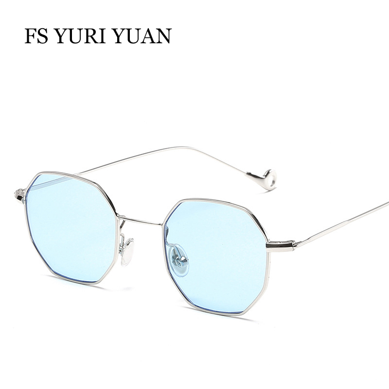 Brand Designer Hexagon Sunglasses For Women Luxury Metal Eyewear Retro Vintage Mens Clear Sun Glass 2017