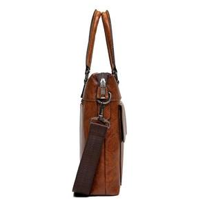 Image 3 - JEEP BULUO sacs à bandoulière en cuir pour hommes, sac à main pour 13 pouces mallette daffaires de marque célèbre de styliste pochette dordinateur, sac à main de voyage 6013