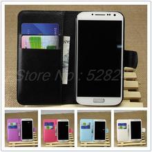 Carteira de luxo caso capa de couro para Samsung Galaxy S4 SIV i9500 com suporte de cartão suporte Flip casos saco do telefone móvel para S4