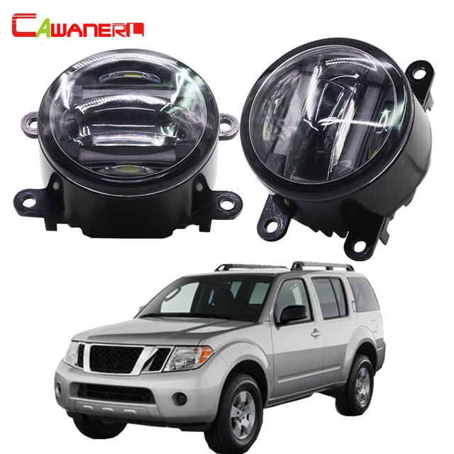 Cawanerl For Nissan Pathfinder R51 2005 2015 Car Styling LED Light Right +  Left Fog