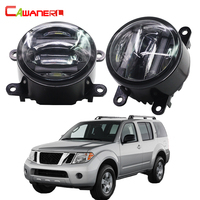 Cawanerl For Nissan Pathfinder R51 2005 2015 Car Styling LED Light Right + Left Fog Light Daytime Running Lamp DRL High Lumens