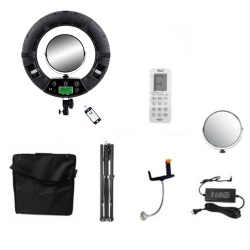 Yidoblo FC-480 Adjust Fashion RGB LED Ring Light 480 LED Video Makeup Lamp Photography Studio broadcast Light +2M stand+ bag