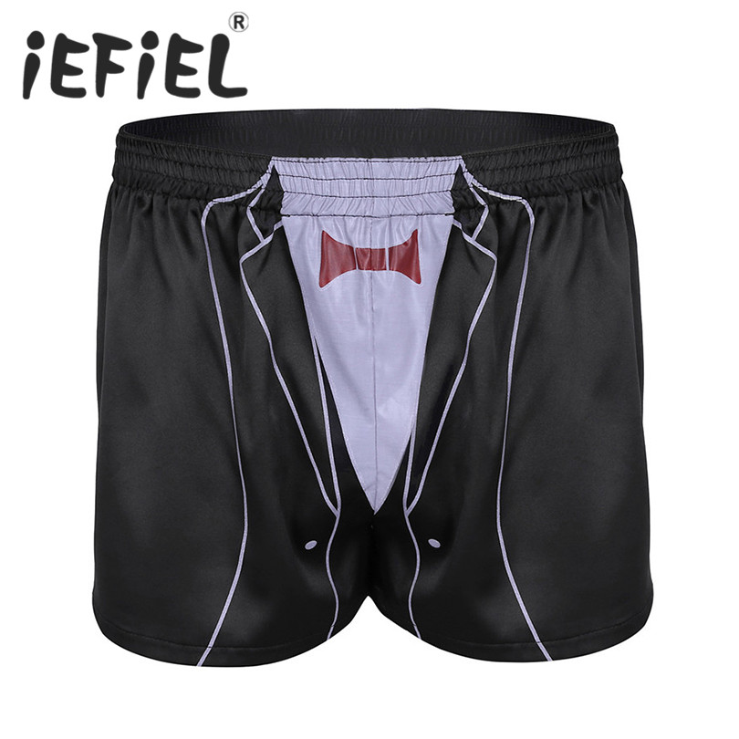 New Arrival Mens Male Lightweight Shiny Summer Boxer Shorts Panties Lounge Sleepwear Casual Short Pants for Lingerie Night