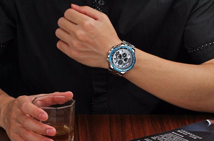 The New WWOOR Luxury Brand Men's Watches Stainless Steel Strap Sports Waterproof Watch Relogio Male Quartz Watch Leisure Watch 4