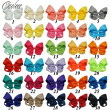 цена на (can pick color)30Pcs/lot 4Inch Hair Bows Hair Clips For Girls Hair Accessories Handmade Ribbon Hair Bow With Clip For Kids