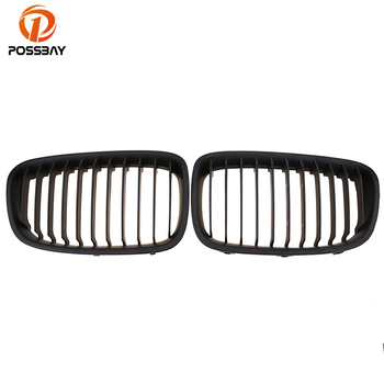 POSSBAY Front Hood Grilles for BMW 1-Series F20 120dX/125d/125i 5-door 2011/2012/2013-2015 Pre-facelift Car Front Kidney Grille