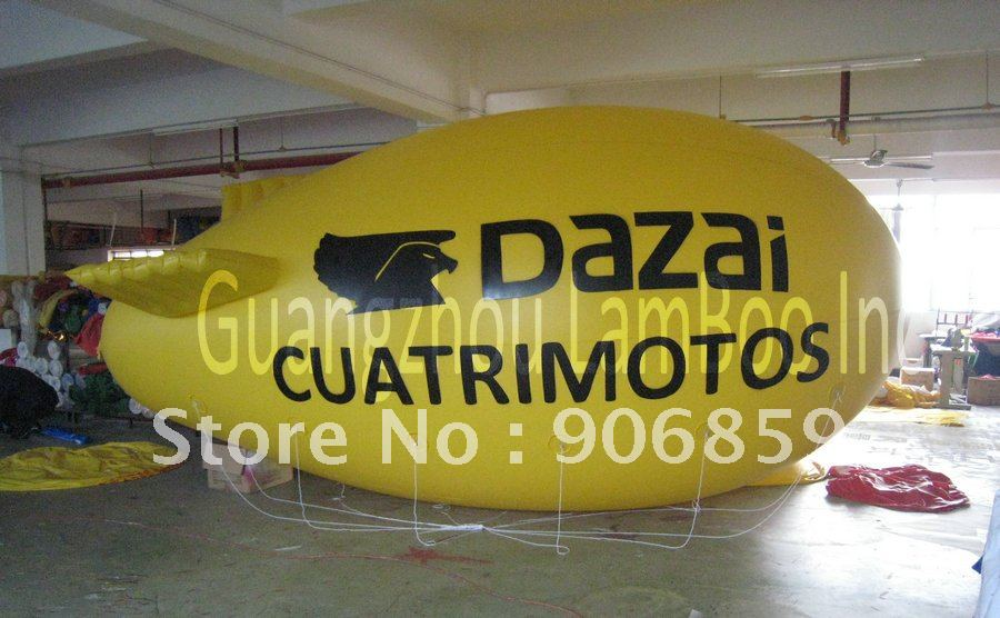 FREE SHIPPING 13ft Long Yellow Inflatable Advertising Airship/Inflatable Blimp/Solid color with Big letters LOGO for EventsFREE SHIPPING 13ft Long Yellow Inflatable Advertising Airship/Inflatable Blimp/Solid color with Big letters LOGO for Events