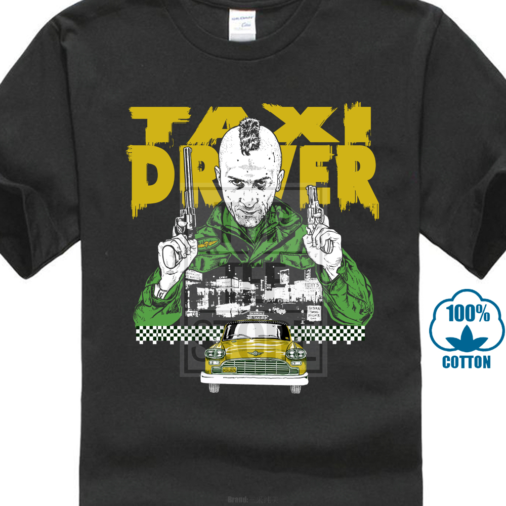 Taxi Driver Retro Graphic T Shirt Robert De Niro American Classic Thriller Movie image