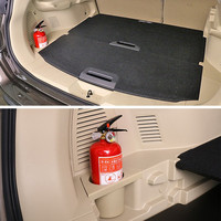 Car Boot Fire Extinguisher Support Beverage Cup For Nissan Rogue X Trail Car Trunk Rack Storage Case for Rogue 2016 2017