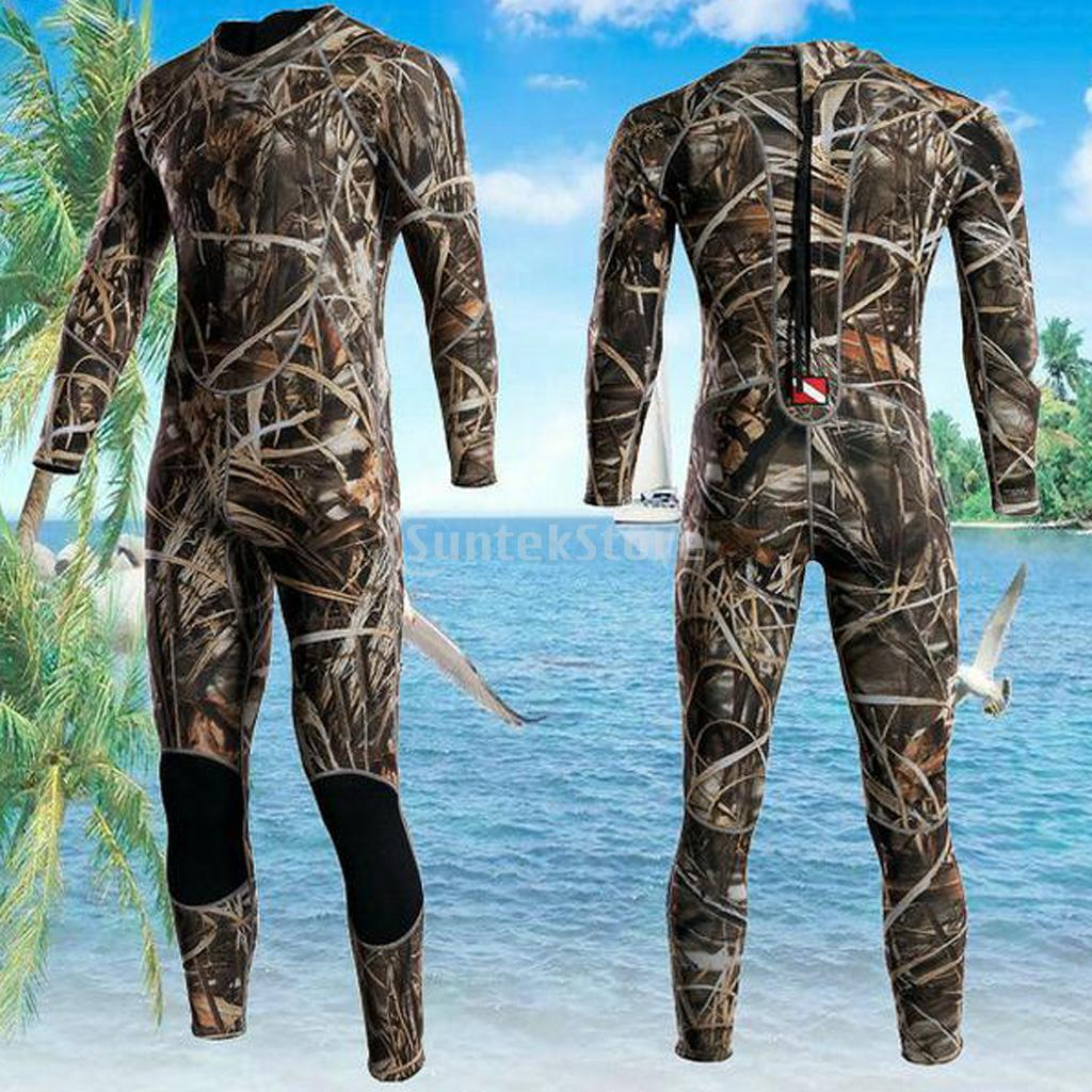 New Mens 3mm Full Body Neoprene Wetsuit Surfing SCUBA Diving Camouflage L сумка printio классическая мужская the beatlove